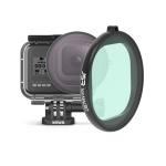 JSR Round Housing 16X Macro Lens Filter for GoPro HERO8 Black
