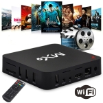 MX9 4K TV Box Android 10.0 Media Player wtih Remote Control, Amlogic S905W Quad Core ARM Cortex-A7, 1GB+8GB, 5G WiFi / Ethernet / TF / USB