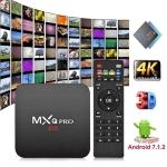 MXQ Pro 4K TV Box Android 10.0 Media Player wtih Remote Control, Rockchip RK3229 Quad Core ARM Cortex-A7, 1GB+8GB, 5G WiFi / Ethernet / TF / USB