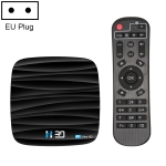 H30 4K Ultra HD Smart TV BOX Android 10.0 Media Player wtih Remote Control, Quad-core, RAM: 4GB, ROM: 64GB(EU Plug)