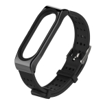 For Xiaomi Mi Band 4 Mijobs Youth Edition Silicone Breathable Strap(Black)