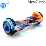 7 inch Bluetooth Marquee Light Electric Balance Car Scooter for Children and Adult, with Luminous Wheels(Ice Flame)