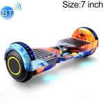 7 inch Bluetooth Marquee Light Electric Balance Car Scooter for Children and Adult, with Non-luminous Wheels(Ice Flame)