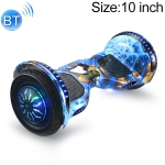 10 inch Bluetooth Marquee Light Electric Balance Car Scooter for Children and Adult, with Luminous Wheels(Blue Phoenix)