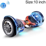 10 inch Bluetooth Marquee Light Electric Balance Car Scooter for Children and Adult, with Non-luminous Wheels(Ice Flame)