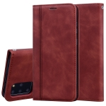 For Samsung Galaxy S20 Plus Frosted Business Magnetic Horizontal Flip PU Leather Case with Holder & Card Slot & Lanyard(Brown)