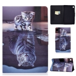 For Huawei MatePad T8 Voltage Painted Pattern Tablet PC Protective Leather Case with Bracket & Card Slots & Anti-skid Strip(Cat and Tiger)