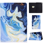 For Samsung Galaxy Tab A 10.1 (2019) T515 / T510 Voltage Painted Pattern Tablet PC Protective Leather Case with Bracket & Card Slots & Anti-skid Strip(Blue Marble)