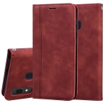 For Samsung Galaxy A30/A20 Frosted Business Magnetic Horizontal Flip PU Leather Case with Holder & Card Slot & Lanyard(Brown)
