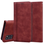 For Samsung Galaxy A31 Frosted Business Magnetic Horizontal Flip PU Leather Case with Holder & Card Slot & Lanyard(Brown)