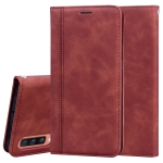 For Samsung Galaxy A70 Frosted Business Magnetic Horizontal Flip PU Leather Case with Holder & Card Slot & Lanyard(Brown)