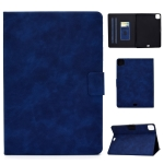 For iPad Pro 11 (2020) & (2018) Cowhide Texture Horizontal Flip Leather Case with Holder & Card Slots & Sleep / Wake-up Function(Blue)