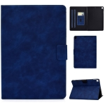 For iPad 10.2 / Air (2019) / Pro 10.5 Cowhide Texture Horizontal Flip Leather Case with Holder & Card Slots & Sleep / Wake-up Function(Blue)