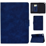 For iPad mini 5 / 4 / 3 / 2 / 1 Cowhide Texture Horizontal Flip Leather Case with Holder & Card Slots & Sleep / Wake-up Function(Blue)
