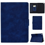 For iPad Air 2 / Air / 9.7 (2018) & (2017) Cowhide Texture Horizontal Flip Leather Case with Holder & Card Slots & Sleep / Wake-up Function(Blue)