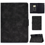 For Huawei MediaPad T5 Cowhide Texture Horizontal Flip Leather Case with Holder & Card Slots(Grey)
