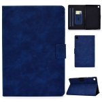 For Lenovo M10 Plus TB-X606F Cowhide Texture Horizontal Flip Leather Case with Holder & Card Slots & Sleep / Wake-up Function(Blue)