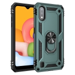For Galaxy A01 US Version Shockproof TPU + PC Protective Case with 360 Degree Rotating Holder(Green)