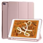 For iPad Mini 5 / Mini 4 3-folding Horizontal Flip PU Leather + Shockproof TPU Case with Holder & Pen Slot(Pink)