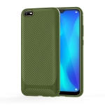 For OPPO A1k / Realme C2 Carbon Fiber Texture Shockproof TPU Protective Case(Green)