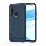 For OPPO A8 / A31(2020) Carbon Fiber Texture Shockproof TPU Protective Case(Blue)