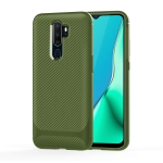 For OPPO A11X / A11 Carbon Fiber Texture Shockproof TPU Protective Case(Green)