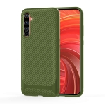 For OPPO Realme X50 Pro Carbon Fiber Texture Shockproof TPU Protective Case(Green)