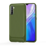For OPPO Realme XT / X2 / K5 Carbon Fiber Texture Shockproof TPU Protective Case(Green)