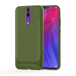 For OPPO Reno Z Carbon Fiber Texture Shockproof TPU Protective Case(Green)