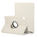 For Huawei MatePad T8 / C3 8 inch Litchi Texture Horizontal Flip 360 Degrees Rotation Leather Case with Holder (White)