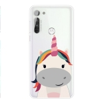 For Motorola Moto G8 TPU Pattern Soft Protective Case(Unicorn)