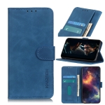 For OPPO Realme C11 KHAZNEH Retro Texture PU + TPU Horizontal Flip Leather Case with Holder & Card Slots & Wallet(Blue)