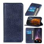 For OPPO Realme C11 Magnetic Crazy Horse Texture Horizontal Flip Leather Case with Holder & Card Slots & Wallet(Blue)