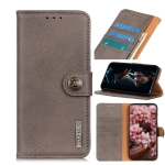 For OnePlus Nord KHAZNEH Cowhide Texture Horizontal Flip Leather Case with Holder & Card Slots & Wallet(Khaki)