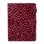 For iPad Pro 11 (2020) Colored Drawing Pattern Horizontal Flip PU Leather Case with Holder & Card Slot & Sleep / Wake-up Function(Red Pink Leopard)
