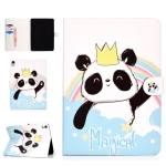 For iPad Pro 11 inch (2018) Colored Drawing Pattern Horizontal Flip PU Leather Case with Holder & Card Slot & Sleep / Wake-up Function(Crown Panda)