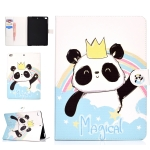 For iPad Pro10.5 inch Colored Drawing Pattern Horizontal Flip PU Leather Case with Holder & Card Slot & Sleep / Wake-up Function(Crown Panda)