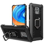 For Xiaomi Pocophone F2 Pro 5G Carbon Fiber Protective Case with 360 Degree Rotating Ring Holder(Black)