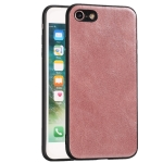 For iPhone 7 / 8 Crazy Horse Textured Calfskin PU+PC+TPU Case(Rose Gold)