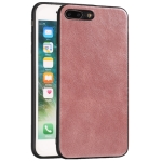 For iPhone 7 Plus / 8  Plus Crazy Horse Textured Calfskin PU+PC+TPU Case(Rose Gold)