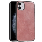 For iPhone 11 Crazy Horse Textured Calfskin PU+PC+TPU Case(Rose Gold)