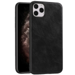 For iPhone 11 Pro Max Crazy Horse Textured Calfskin PU+PC+TPU Case(黑色)
