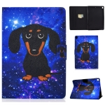 For iPad 10.2 / 10.5 / iPad Air 10.5 2019 TPU Electric Pressed Horizontal Flip Leather Case with Holder & Card Slot & Sleep / Wake-up Function(Little Black Dog)