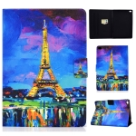 For iPad Air / Air 2  / iPad 9.7 2017 / 2018 TPU Electric Pressed Horizontal Flip Leather Case with Holder & Card Slot & Sleep / Wake-up Function(Eiffel Tower)