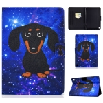For Kindle Fire HD 8 (2020) TPU Electric Pressed Horizontal Flip Leather Case with Holder & Card Slot & Sleep / Wake-up Function(Little Black Dog)