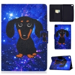 For iPad mini 5 / 4 / 3 / 2 / 1 TPU Electric Pressed Horizontal Flip Leather Case with Holder & Card Slot & Sleep / Wake-up Function(Little Black Dog)