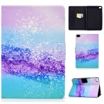 For iPad mini 5 / 4 / 3 / 2 / 1 TPU Electric Pressed Horizontal Flip Leather Case with Holder & Card Slot & Sleep / Wake-up Function(Color Sand)