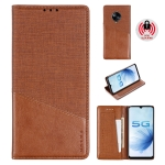 For Vivo S6 MUXMA MX109 Horizontal Flip Leather Case with Holder & Card Slot & Wallet(Brown)