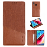 For Vivo Y93 MUXMA MX109 Horizontal Flip Leather Case with Holder & Card Slot & Wallet(Brown)