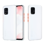 For Xiaomi Mi 10 Lite Skin Hand Feeling Series Shockproof Frosted PC+ TPU Protective Case(White)
